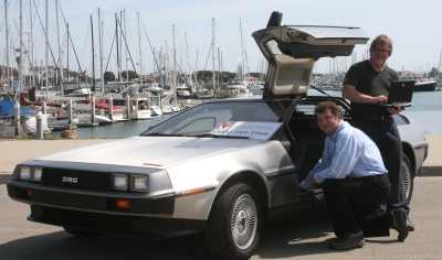 Rick & Michael with the DeLorean